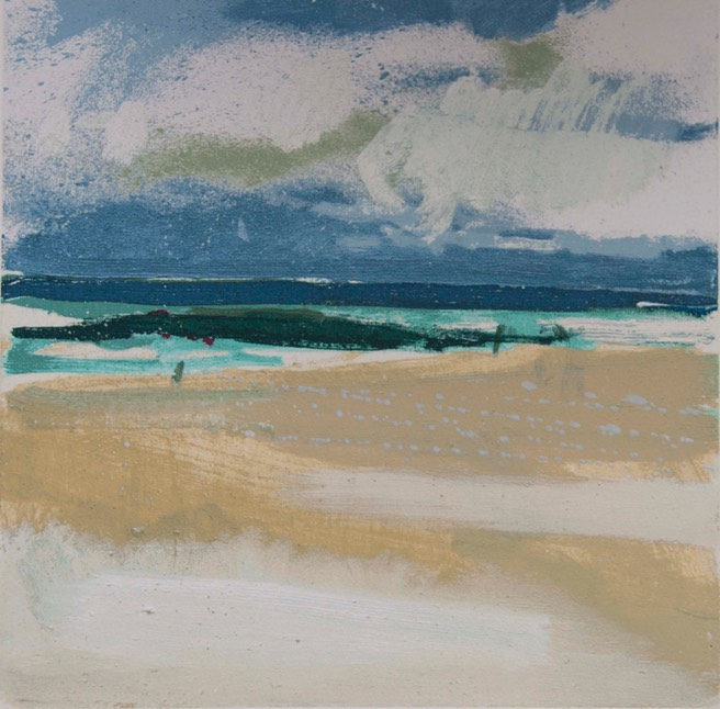 Lucie Bray Wind and Clouds Porthmeor PRINT LB3
